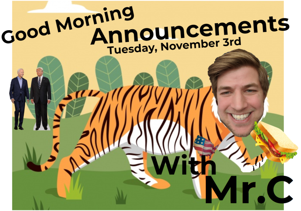 Good Morning Announcements - with Mr. C