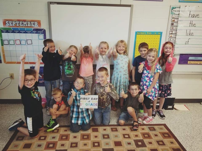 1st Day of 1st Grade--Miss Levy's class