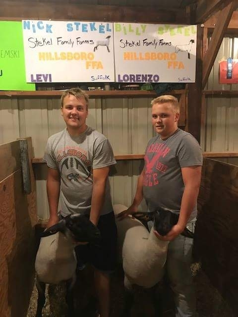 Nick and Billy Stekel at Vernon County Fair