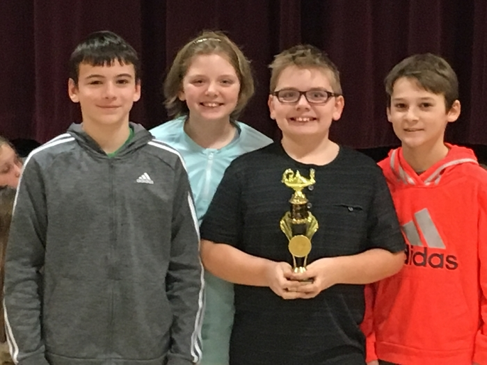 5th grade Math Team earns 1st Place