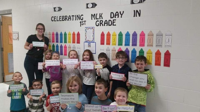 The First Grade classrooms spent the week reading and learning about Martin Luther King Jr.