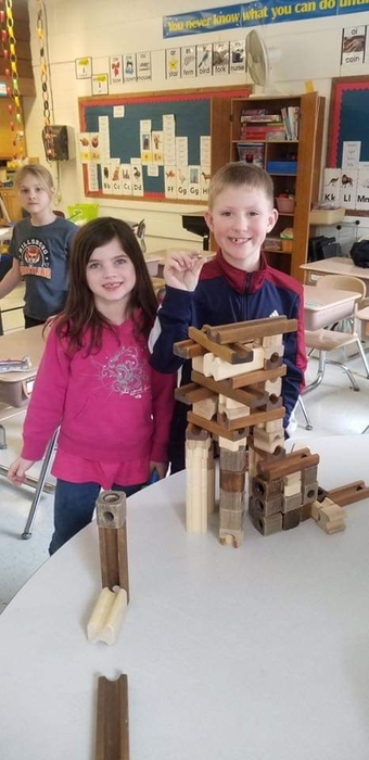 Indoor recess is a great way to build a marble maze!