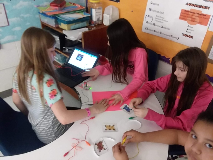 4th graders used Makey Makeys to create a Conductivity Tester