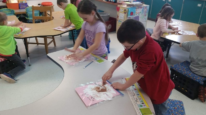 "First graders are participating in a STEM project called ""Pigs In Mud!"""