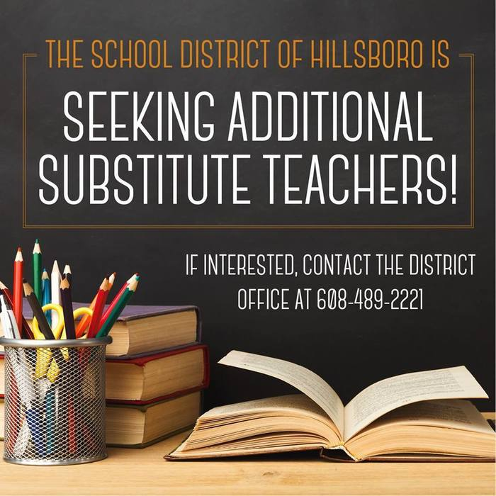 We are seeking more substitute teachers