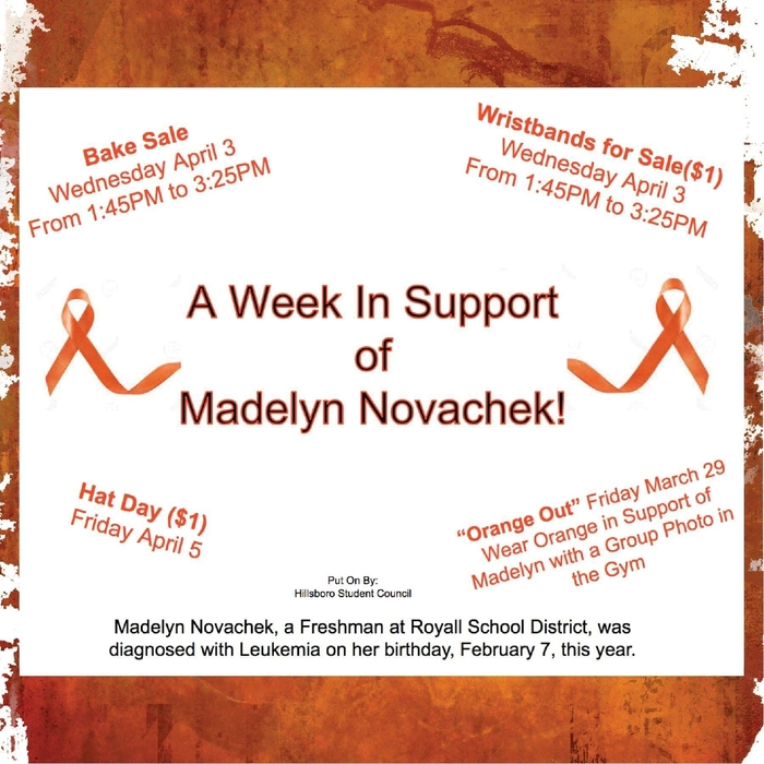 A Week in Support of Madelyn Novachek
