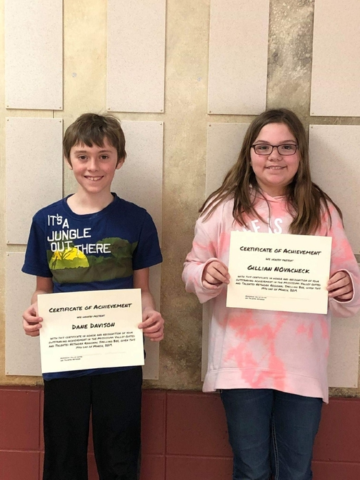 Dane and Gillian did an amazing job at the Mississippi Valley Gifted and Talented Network Spelling Bee in Westby!