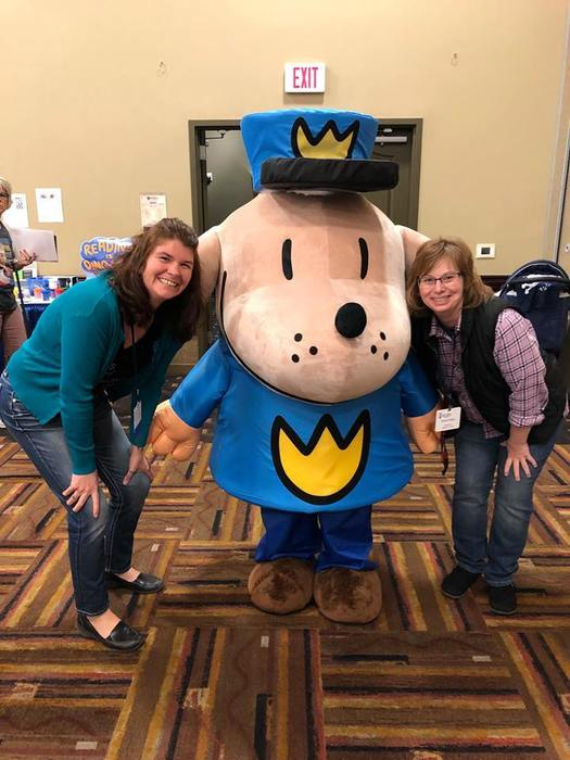 Mrs. Barreau and Mrs. Krajco met Dog Man at WEMTA