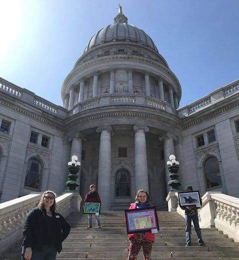 Dane, Realeigh and Oakley attended the Wisconsin State Youth Art Month Celebration with Ms.Scharfenberg