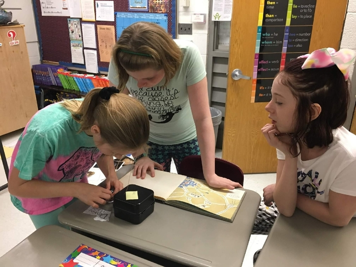 "Fifth graders recently did a ""breakout"" where they used Revolutionary War clues to solve puzzles!"