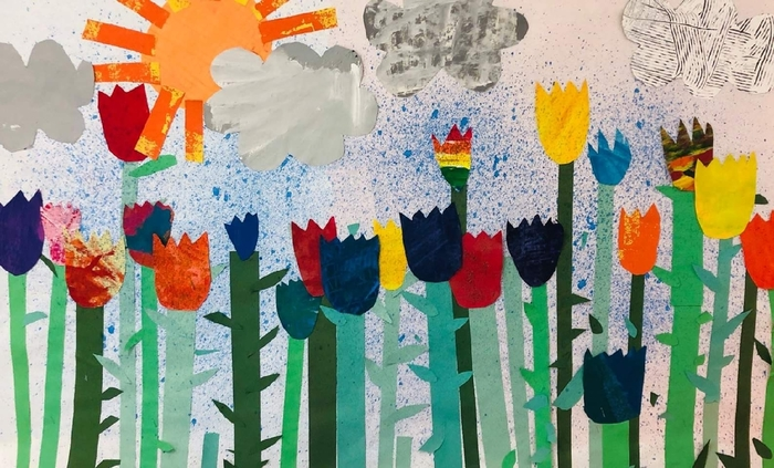 Mural by 1st Graders