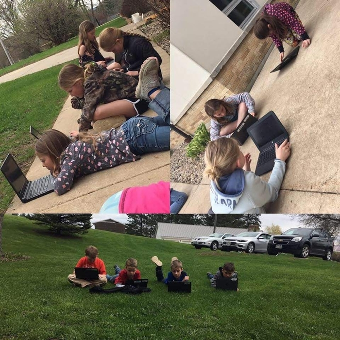 Chromebooks and Math outside