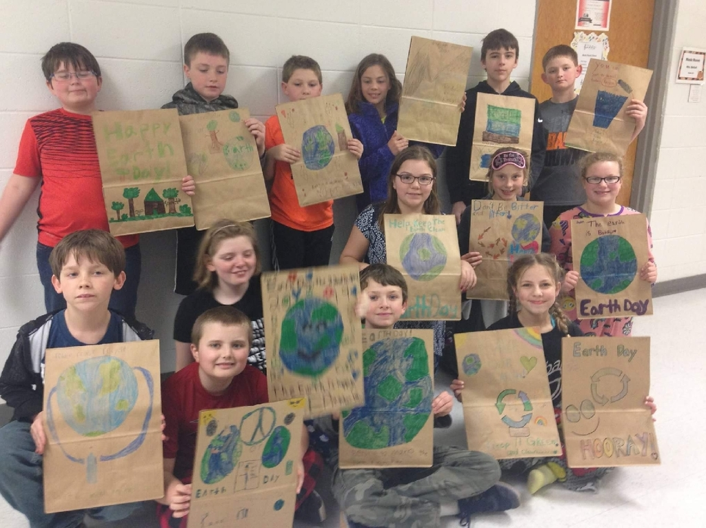 Fifth grade Earth Day bags