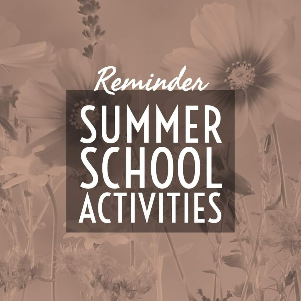 Summer School Reminder