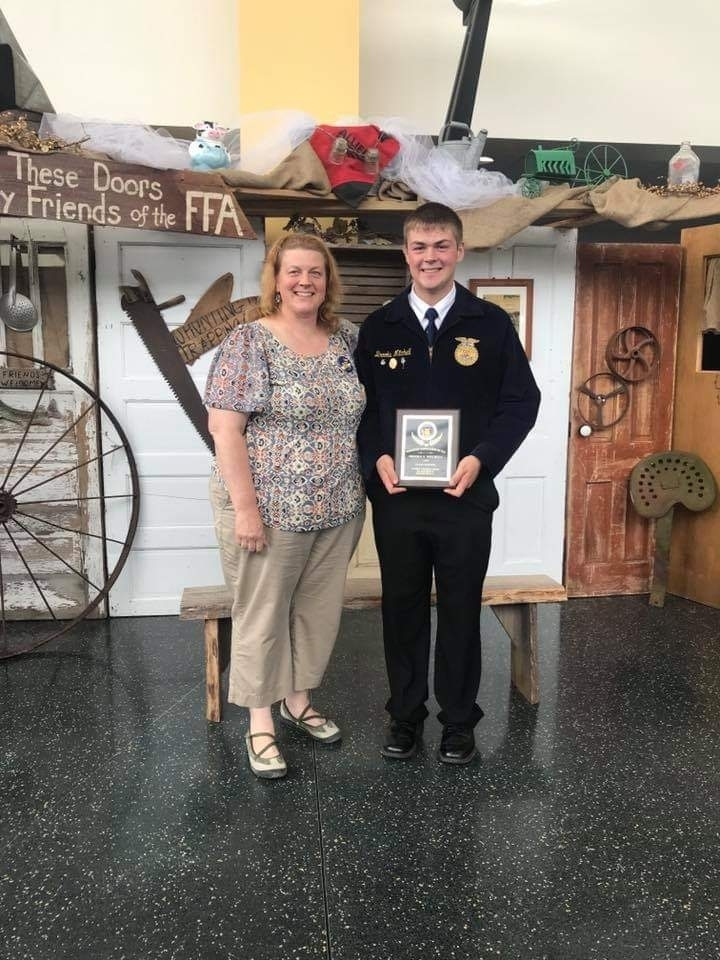 Brooks Mitchell State Champion in Dairy Production