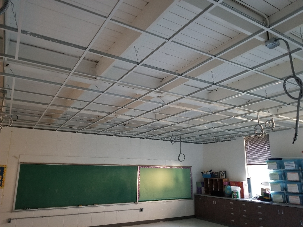 Elementary Classroom lighting and ceiling project