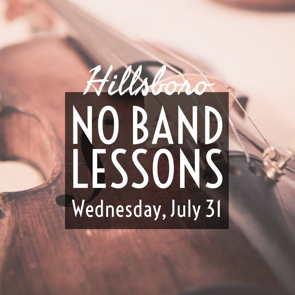 July 31--No Band Lessons