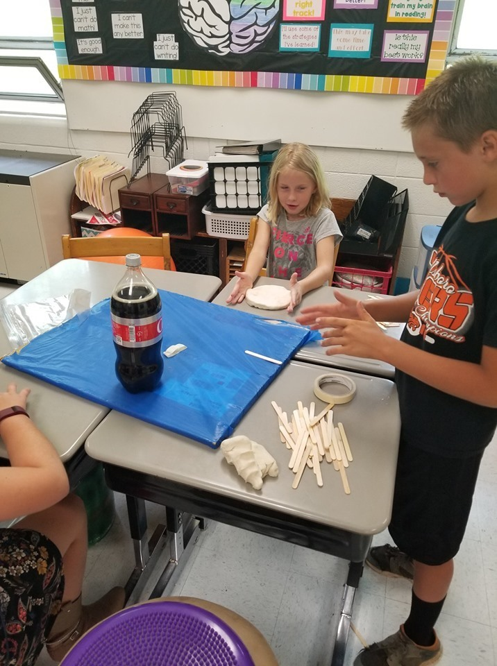 Mrs. Levy's Summer School Class Learning About Volcanoes