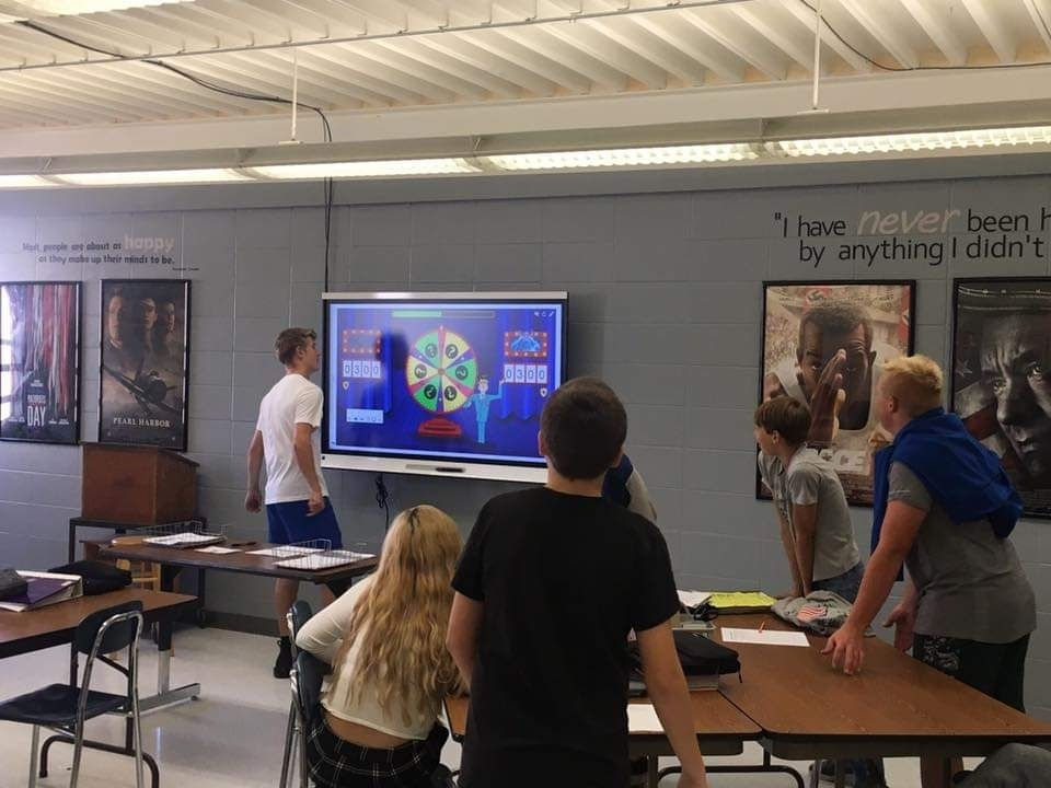 Students love using interactive SMART activities in their Psychology and US History 9 classes