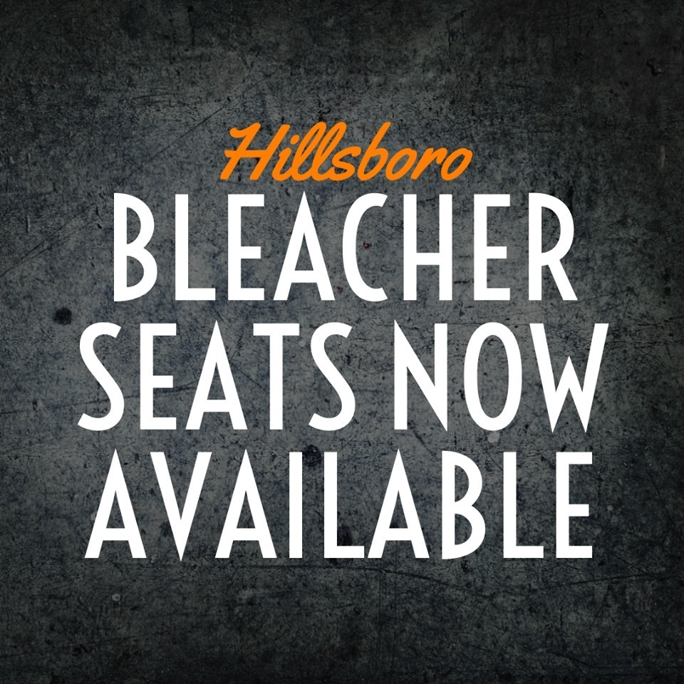 Hillsboro Bleacher Seats are now for sale in the MS/HS office for $45