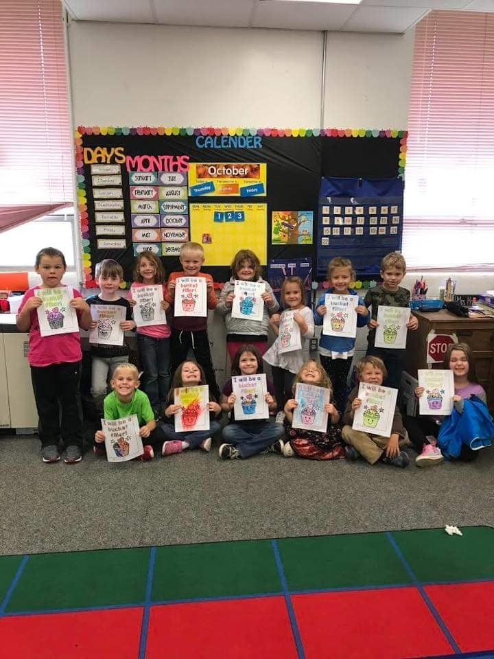 Kindergarteners learning about Respect