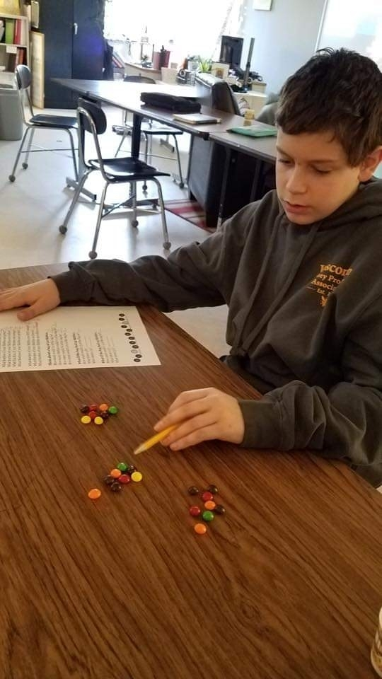 Fractions are always more fun with skittles