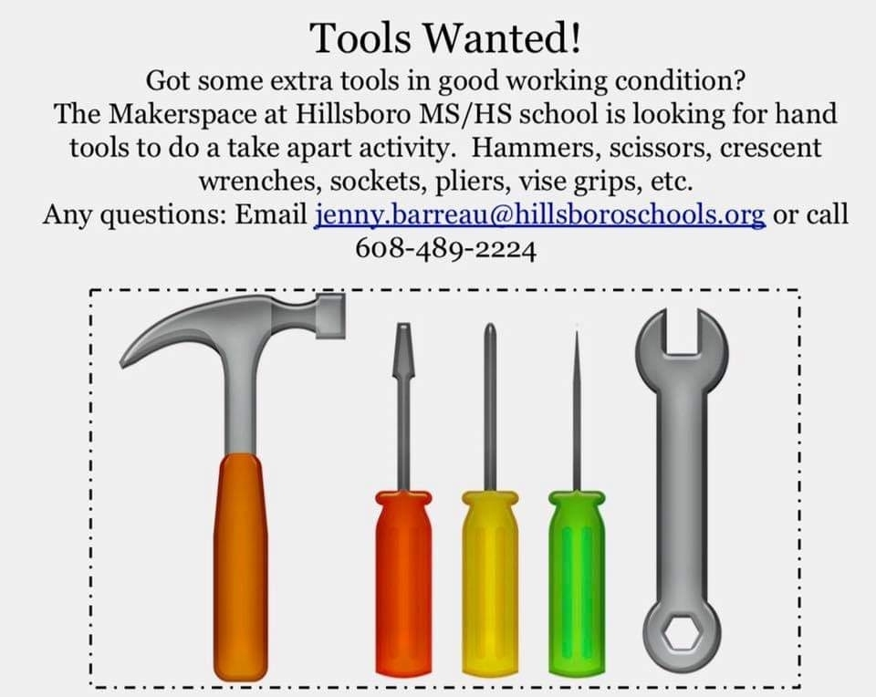 Tools Wanted for Makerspace