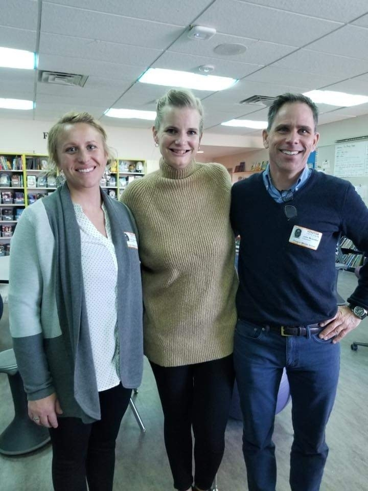 Middle School teachers visit with Pernille Ripp