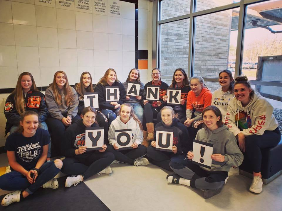 Hillsboro Volleyball Team Saying Thank You