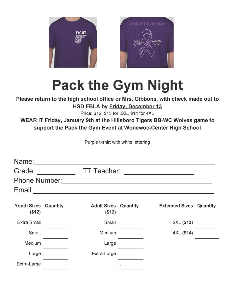 Pack the Gym Night