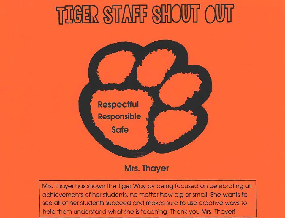Staff Shoutout