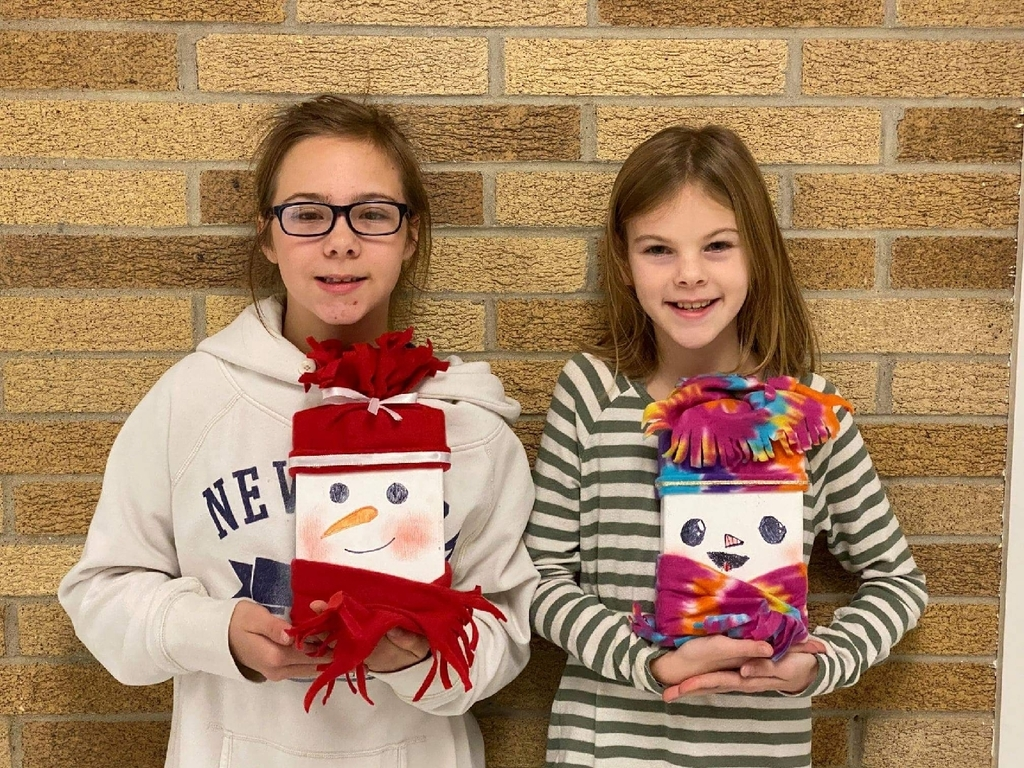 Fifth graders made snowmen as gifts for their family