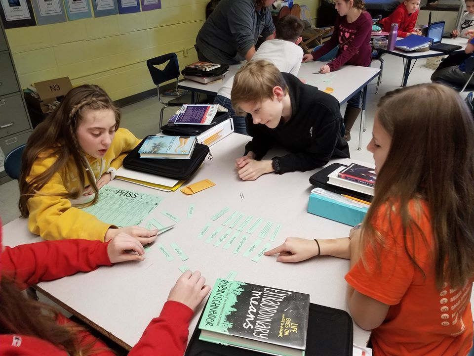 Mr. McMullin's seventh graders are working on expanding their vocabulary!