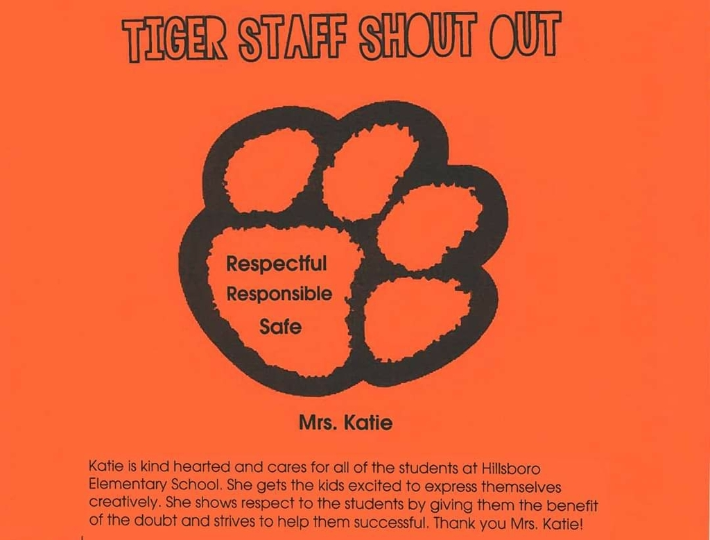 Tiger Staff Shout Out
