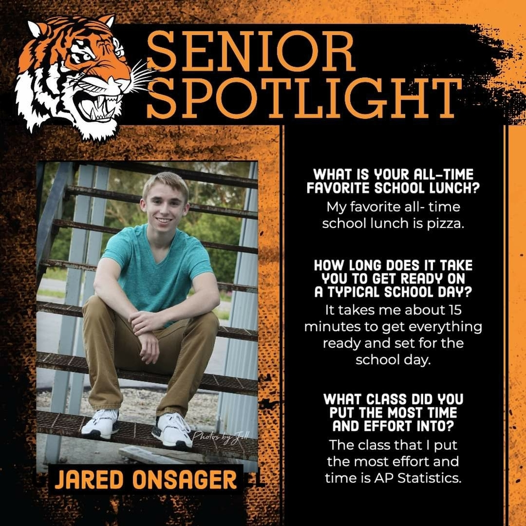 Senior Spotlight - Jared Onsager