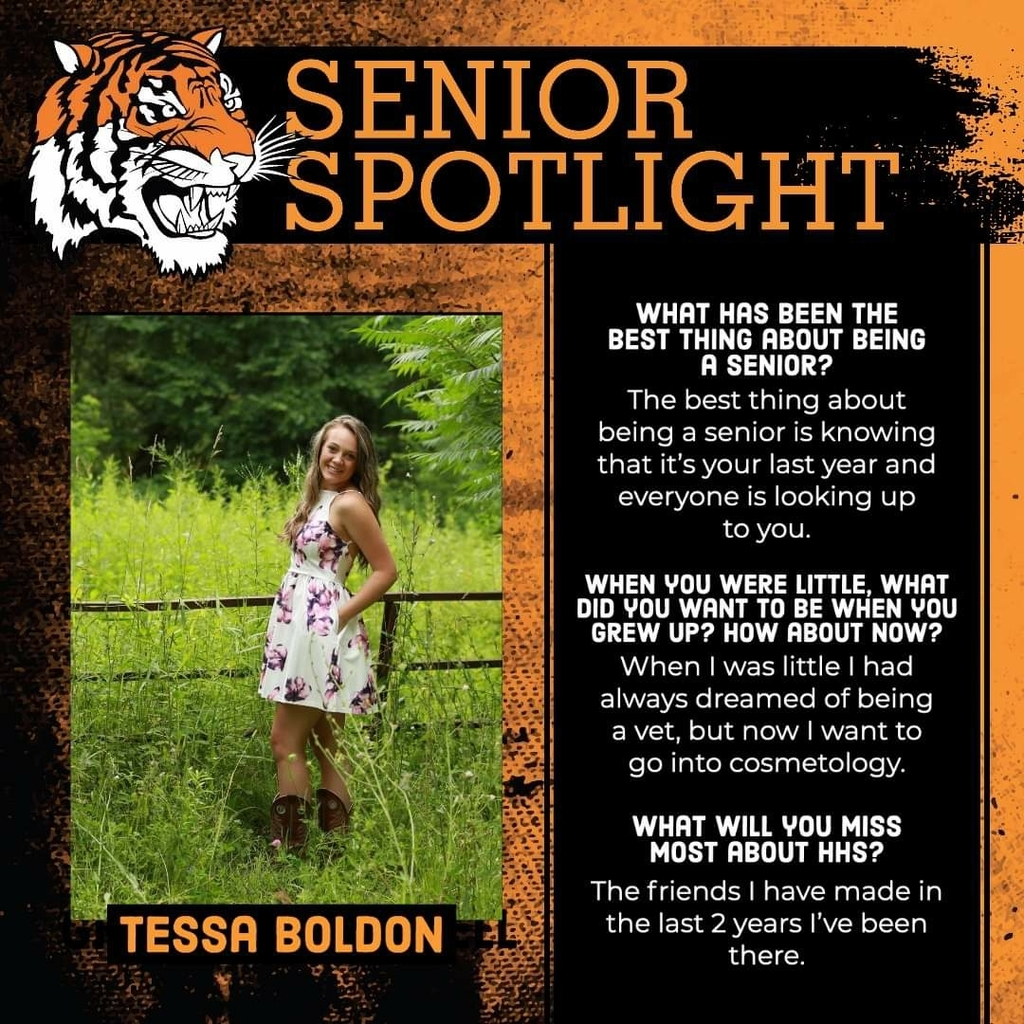 Senior Spotlight - Tessa Boldon